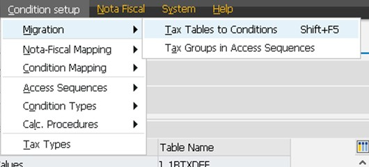 Migrate Tax Tables to Conditions