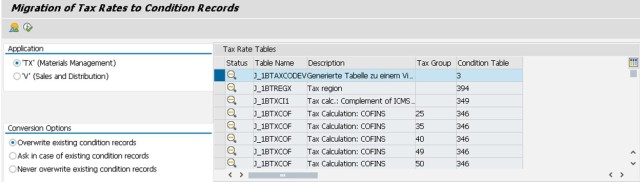 Table Migration Select Table