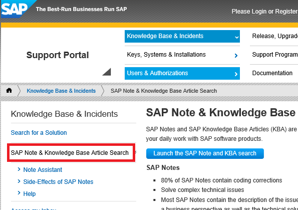 SAP Support and Service